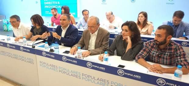 Junta directiva PP málaga 16 sep 2017 bendodo de la torre cid málaga política