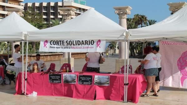 Evento de 'Mechones solidarios'