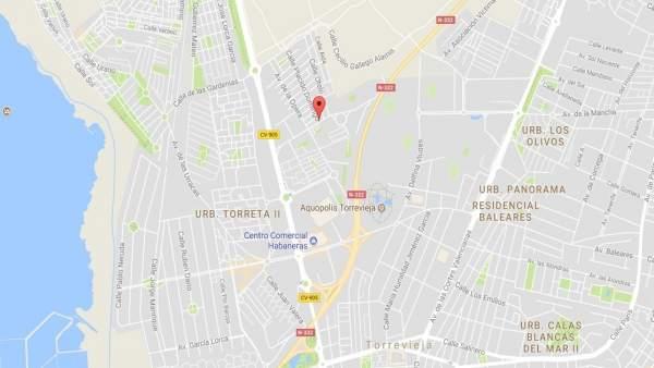 Zona de urbanizaciones de Torrevieja