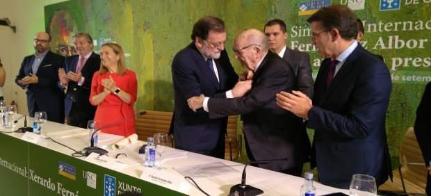 Fernández Albor recibe la medalla de oro al mérito en el trabajo de Rajoy