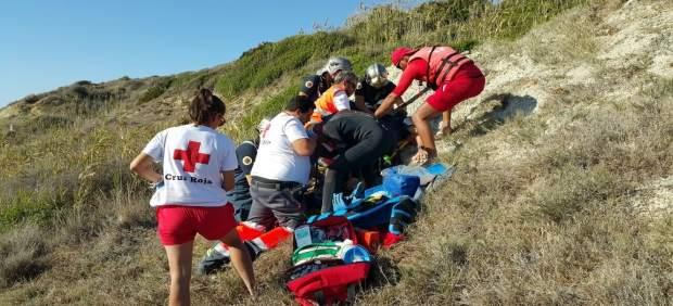 Parapentista herido en Chiclana de la Frontera (Cádiz)