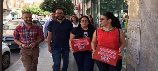 Entrega de avales de la candidatura de Sánchez Teruel al PSOE de Almería