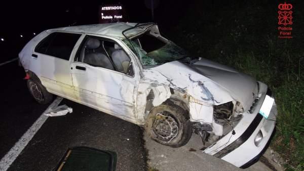 Accidente de tráfico en Leitza