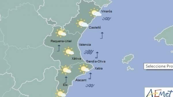 Cielos poco nubosos en la mayoría de la región