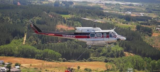 Uno de los helicópteros del operativo de CyL