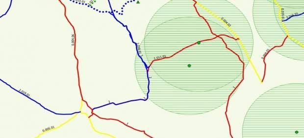Cartografía para prevenir incendios forestales publicada por Medio Ambiente