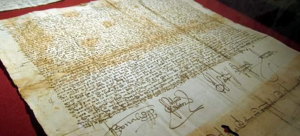 Documento firmado por los Reyes Católicos en 1493