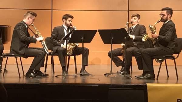 Actuación de los ganaderos Psaiko Quartet