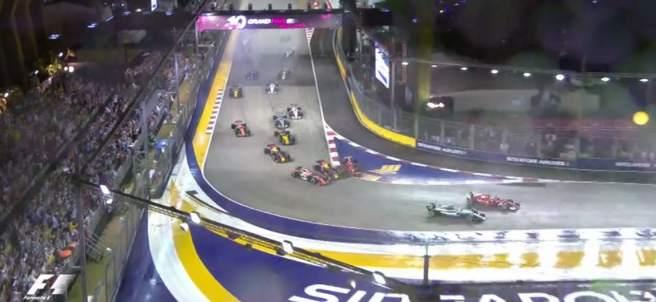 Salida en el GP de Singapur