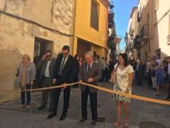 El presidente de la Diputación de Tarragona, Josep Poblet, en Riudecanyes