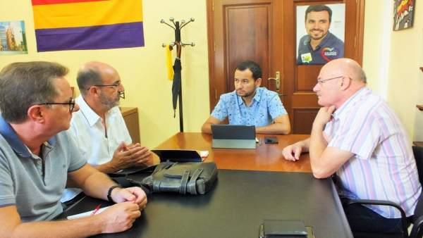 Reunión IU con CCOO de Tussam