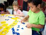 Niños atendidos por la Obra Social 'La Caixa'