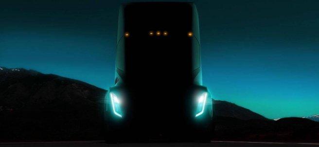 Detalle del Tesla Semi Truck
