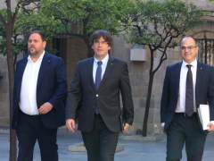 Puigdemont reúne de urgencia al Govern por las detenciones y registros de la Guardia Civil