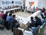 Reunión del equipo 'Rumbo 2020' de Podemos