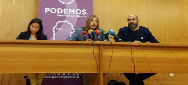 Pablo Fernández, en una rueda de prensa en Palencia