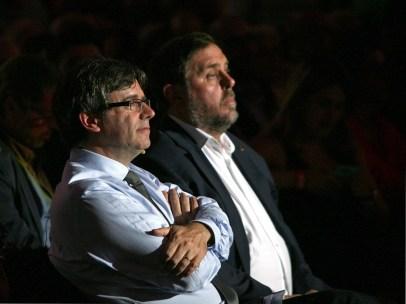 Puigdemont y Junqueras