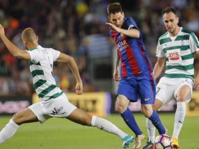 Leo Messi Kike García Gálvez Barcelona Eibar