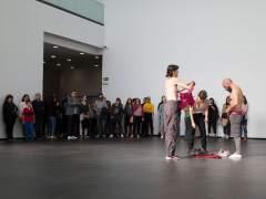 Un momento de la presentación de 'Una exposición coreografiada'