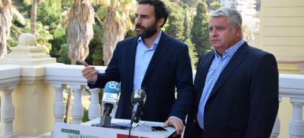 Daniel Pérez portavoz del PSOE Ayto Málaga y el concejal Salvador Trujillo