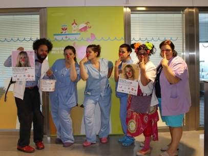 La campaña 'Un dia de Nassos'  para la ONG Pallapupas en el Hospital Joan XXIII