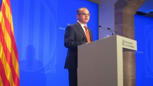 El conseller Jordi Turull, tras el Consell Executiu
