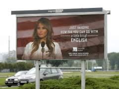 Melania Trump exige retirar de las calles de Zagreb carteles publicitarios con su imagen