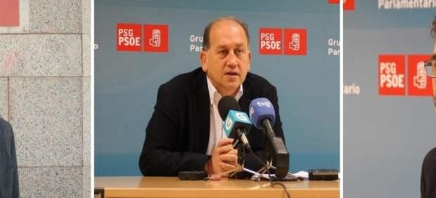 Gonzalo Caballero, X Fernández Leiceaga y Juan Díaz Villoslada (Primarias PSdeG)