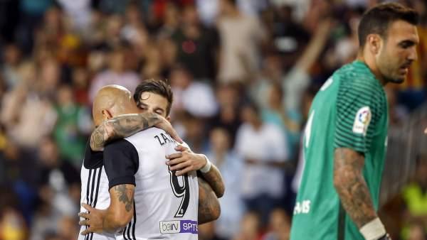 Gol del Valencia al Málaga