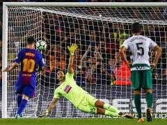 Otra exhibición de Messi con cuatro goles al Eibar