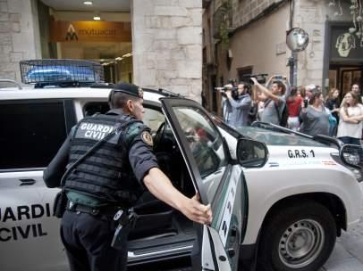 Operativo de la Guardia Civil en Barcelona
