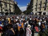 Manifestación frente a la conselleria de Economía