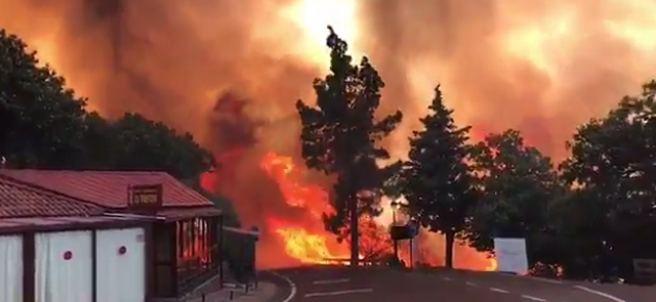 Incendio forestal en Gran Canaria