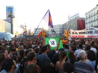 Manifestación en la Puerta del Sol a favor del derecho a decidir