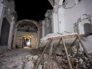Once muertos en un bautizo en México al derrumbarse la iglesia por el terremoto
