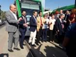 Primeros momentos de la inauguración del metro de Granada