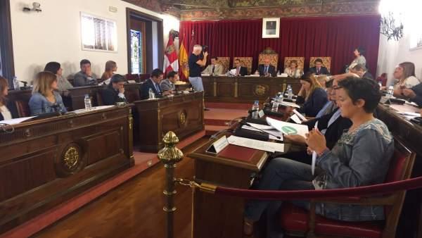 Valladolid. Sesión plenaria de la Diputación provincial