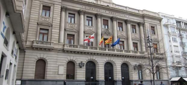 Fachada principal de la Diputación Provincial de Zaragoza (DPZ)