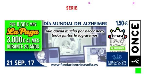 El Cupón De La Once Se Suma Al Día Mundial Del Alzheimer