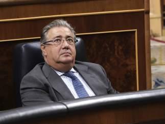 El ministro del Interior, Juan Ignacio Zoido, en el Congreso de los Diputados.
