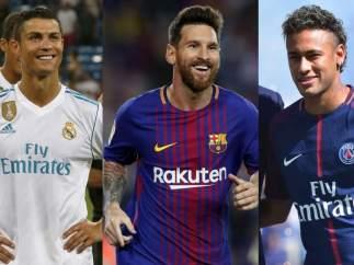 Cristiano, Messi y Neymar