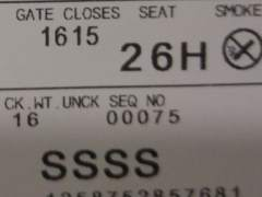 Si ves este código en tu tarjeta de embarque, prepárate para un control
