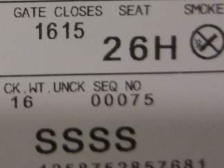 Si ves este código en tu tarjeta de embarque, prepárate para un control exhaustivo