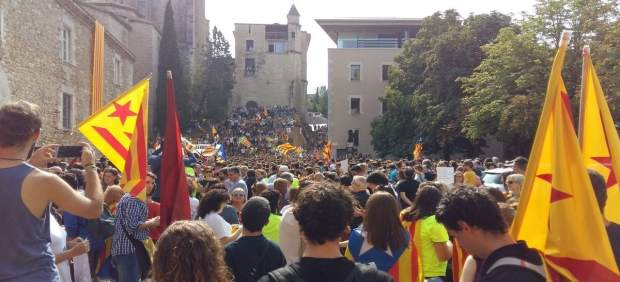 Concentración en Girona