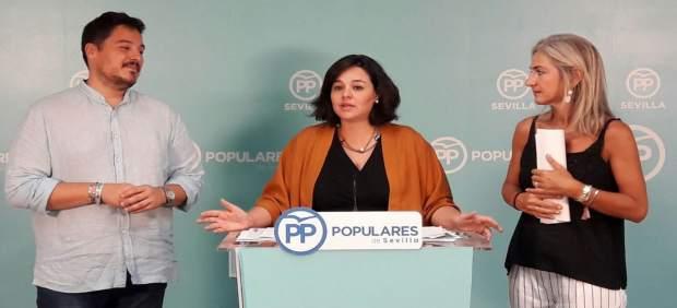 Los populares José Luis García, Virginia Pérez y Patricia del Pozo