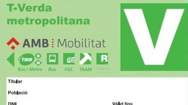 La nueva T-Verda Metropolitana.