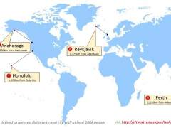 ¿Cuáles son las ciudades más aisladas del mundo?