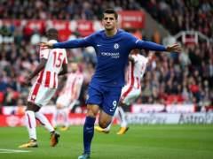 Morata logra un 'hat-trick' y destroza al Stoke City
