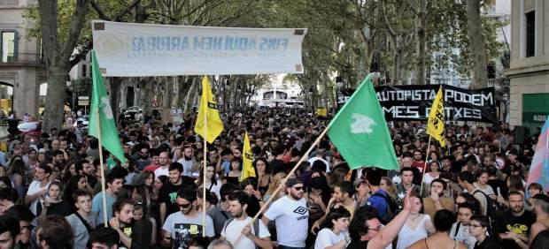 Manifestación contra la masificación turística