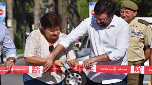 Antoni Noguera inaugurando la 'Fit Salud Palma 2017'
